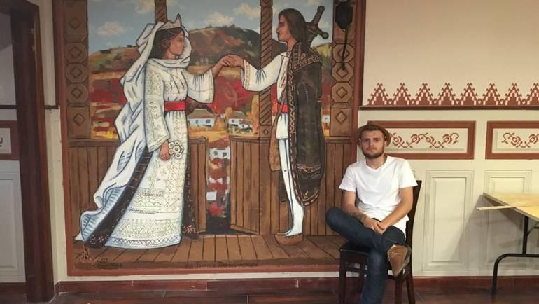 Alexei Luca – tînărul din Costești care inspiră și promovează localitatea prin picturile sale murale