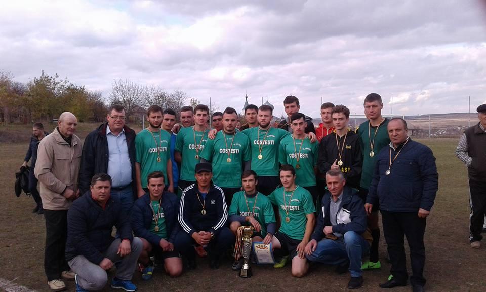Satul Costești a cîștigat Campionatul Raional la Fotbal, ediția 2017