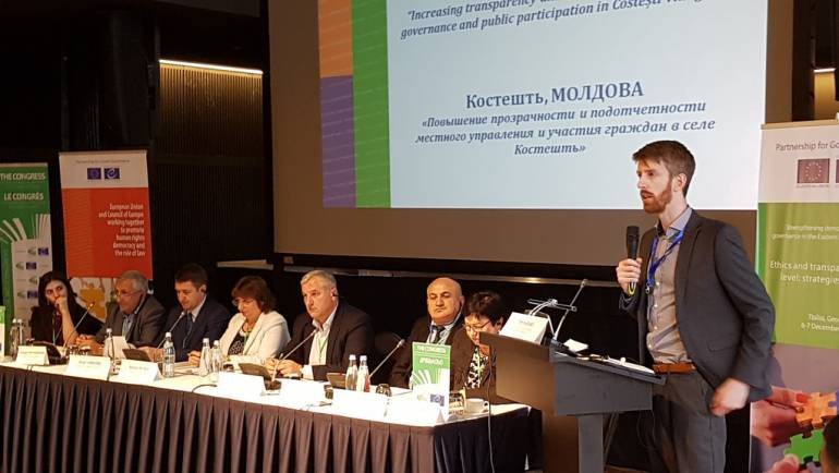 """Primăria Costești – invitat special la conferința """"Parteneriat pentru o bună guvernare"""" din Tbilisi, Georgia"""
