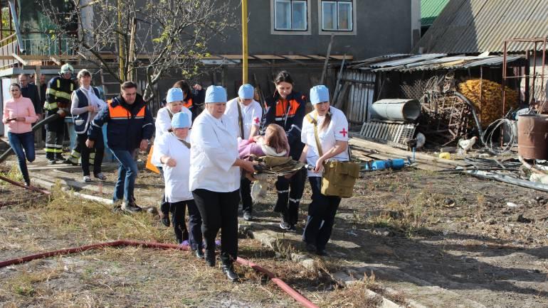 Exerciții în satul Costești privind Protecția Civilă