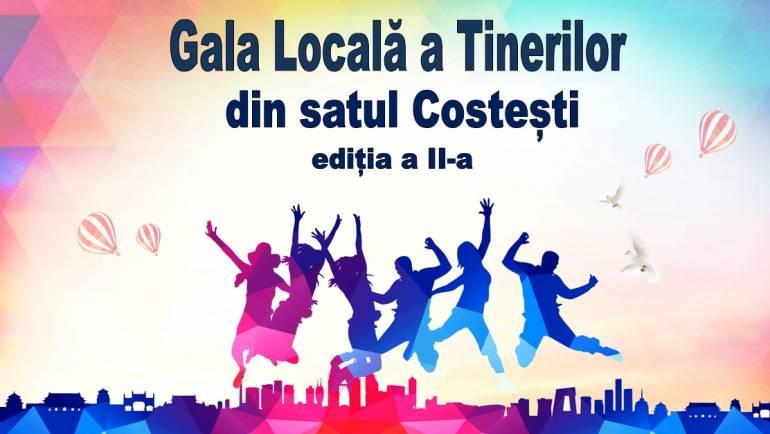 """Invitație la """"Gala Locală a Tinerilor"""" din satul Costești, ediția a II-a"""