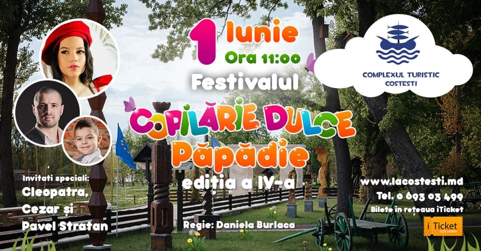 """Complexul Turistic """"Costești"""" invită copii la cea de a patra ediție a Festivalului """"Copilărie-Dulce Păpădie"""" în data de 1 iunie 2019"""