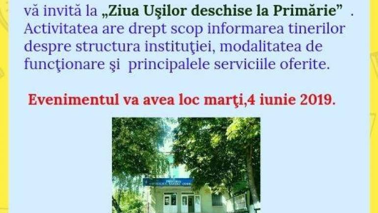 Ziua ușilor deschise la Primăria satului Costești!!!
