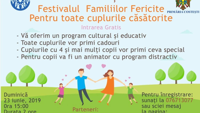 """Invitație la """"Festivalul Famiilor Fericite"""", la Casa de Cultură din Costești!"""