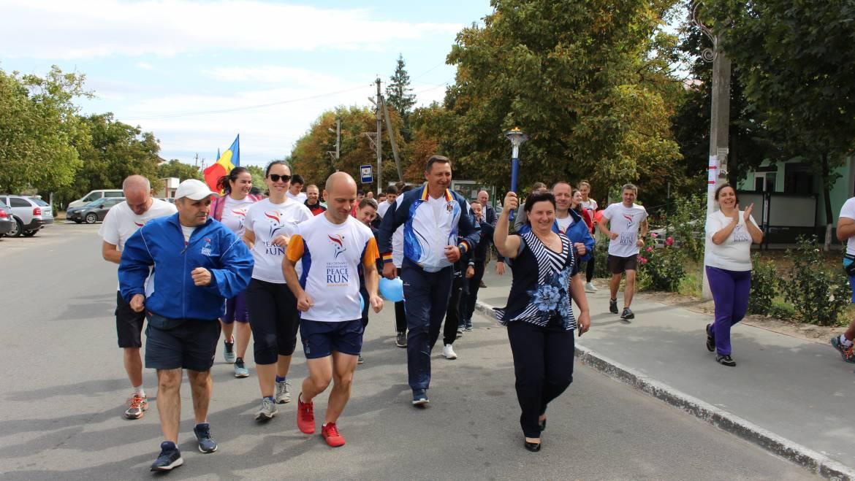 """""""Peace Run 2019"""" a ajuns la Costești-Capitala Tineretului din Moldova"""