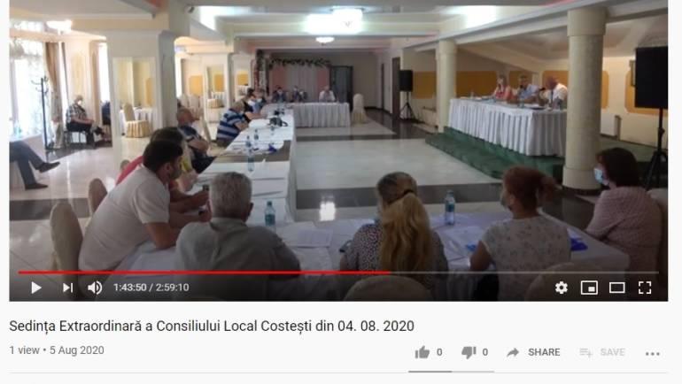 Sedința Extraordinară a Consiliului Local Costești din 04. 08. 2020
