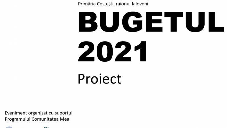 AUDIERI PUBLICE PRIVIND PROIECTUL BUGETULUI SATULUI COSTEȘTI PENTRU ANUL 2021