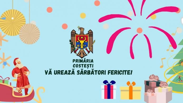 Primăria Costești vă urează Sărbători Fericite!