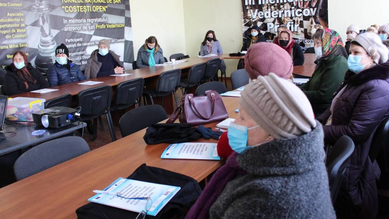 Atelier despre dezvoltarea copiilor pentru părinții din satul Costești
