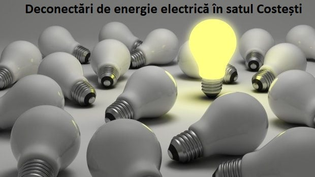 Deconectări de energie electrică pe 31 străzi din satul Costești!